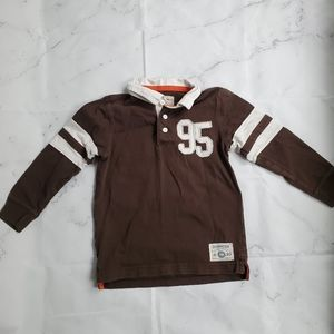 Oshkosh Size 5 Rugby 95 Brown Long Sleeve Shirt